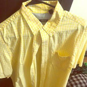 Men's IZ0D button up dress shirt.